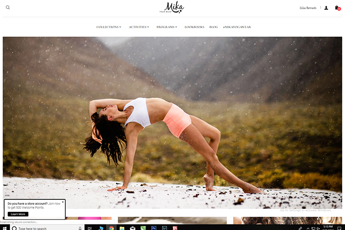 mika yoga wear blog