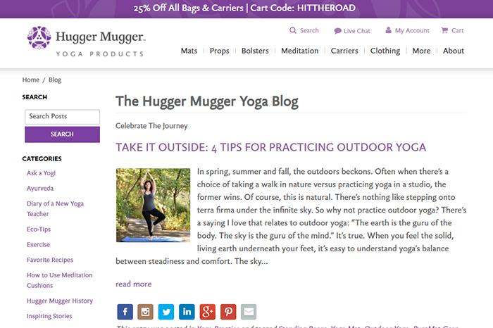 The Hugger Mugger Yoga Blog