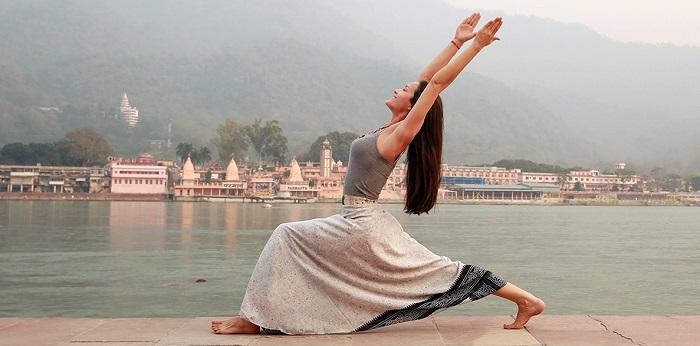 women doing modern yoga