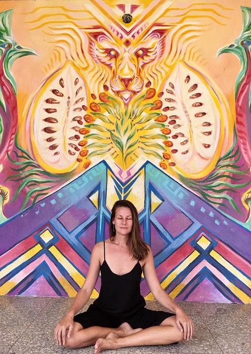 Lynn Alexander meditating