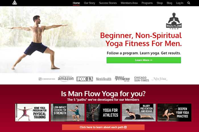 Man Flow Yoga blog